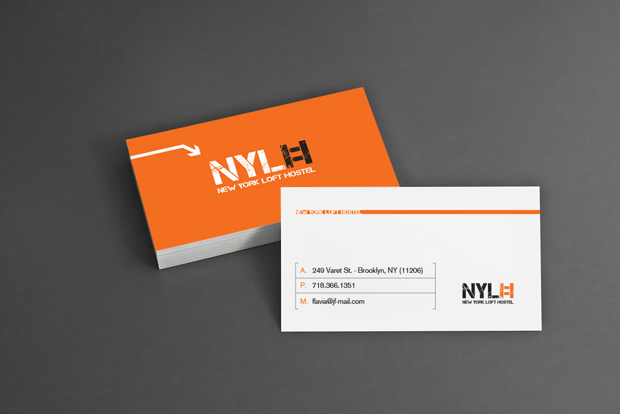 new york loft hostel business cards