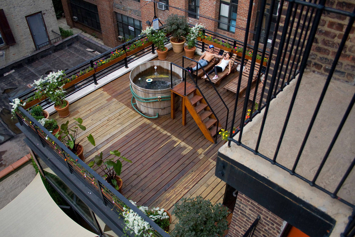 new york loft hostel deck
