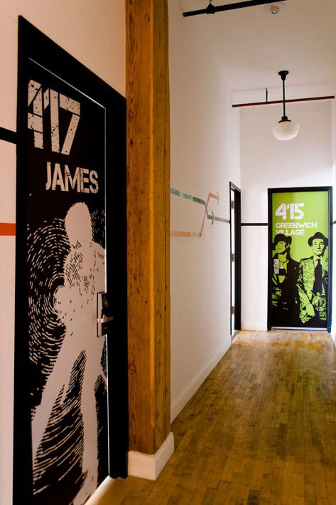 new york loft hostel doors