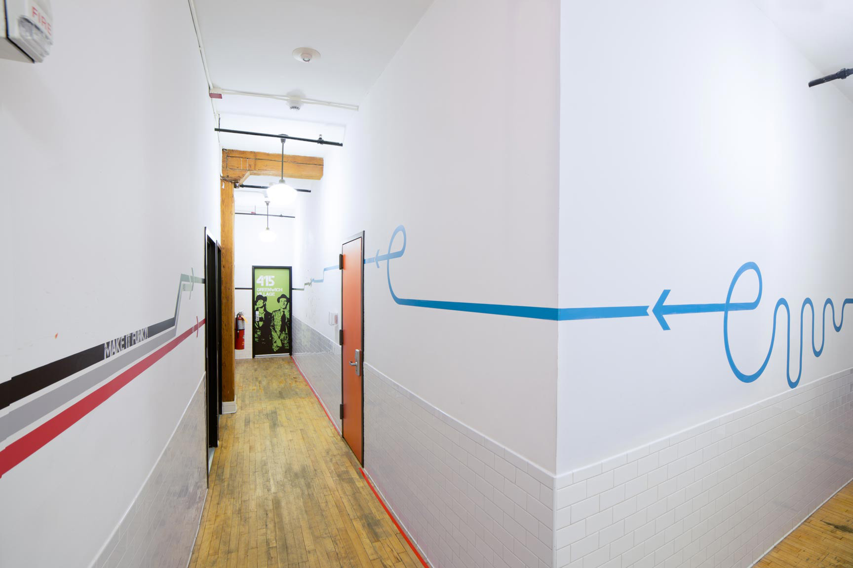 new york loft hostel graphics