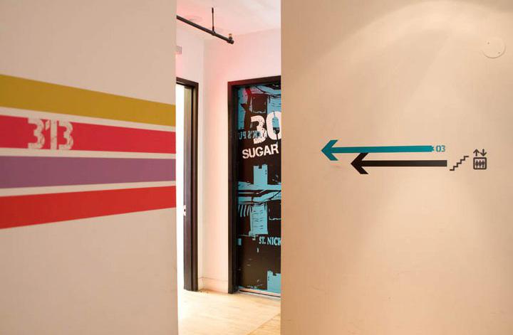 new york loft hostel interior design