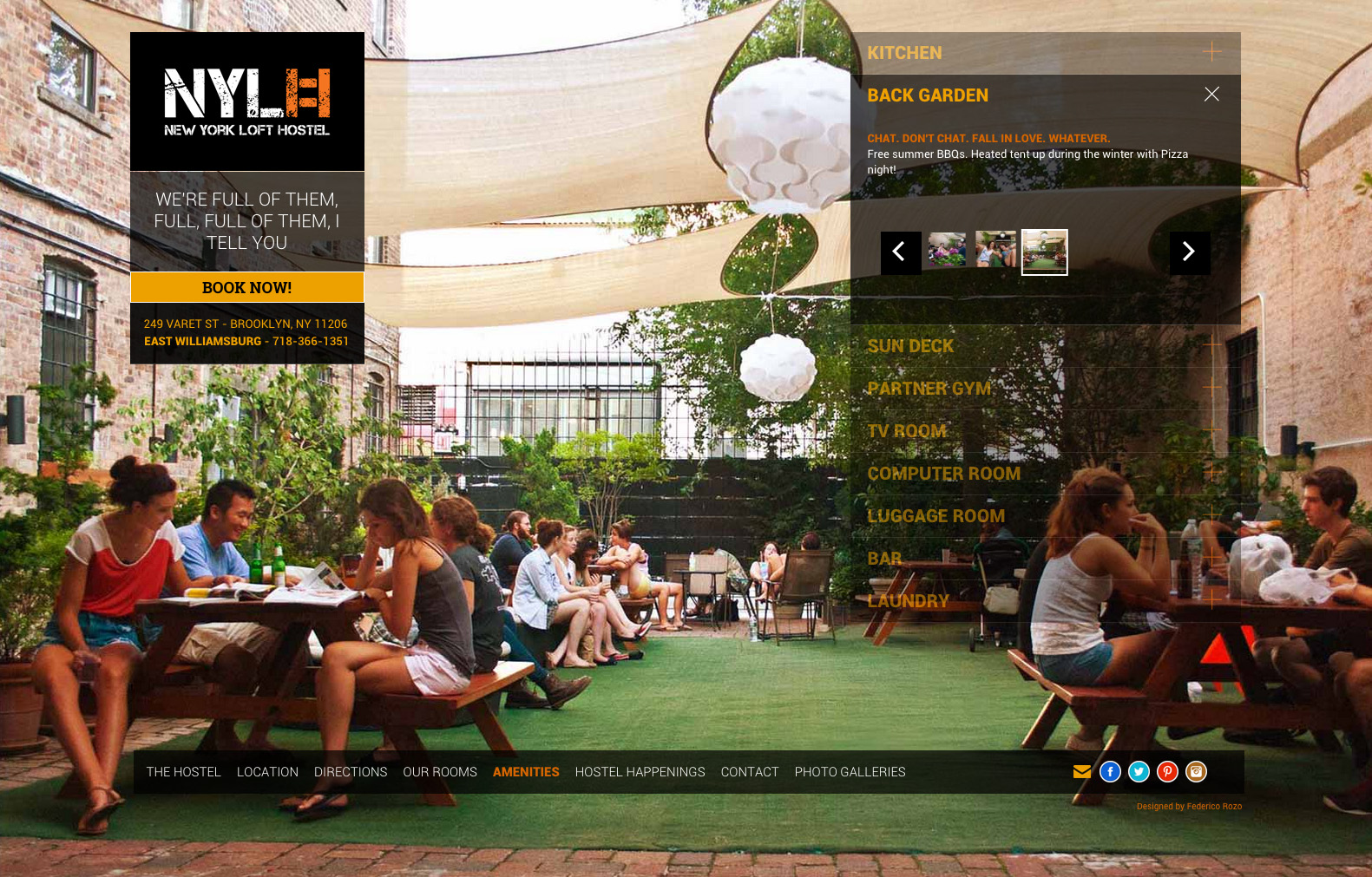 new york loft hostel website