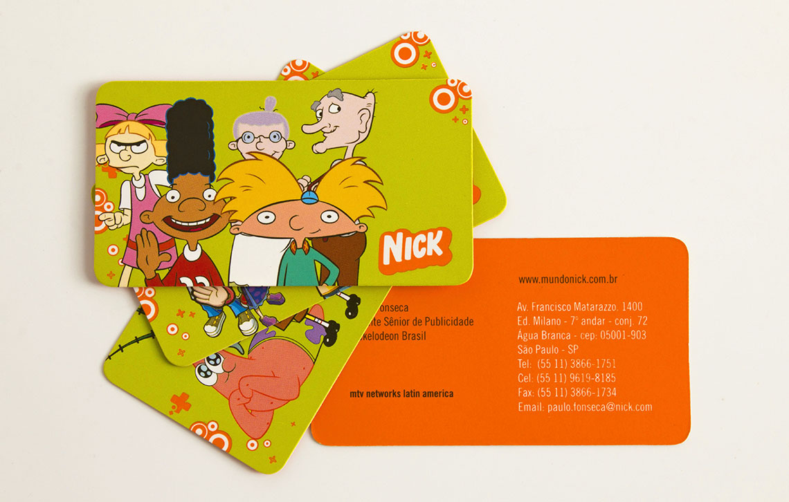 nickelodeon business cards